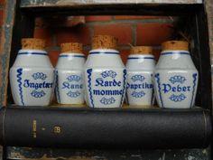 Vintage/Retro Jars....Søholm Krydderikrukker 125,-kr