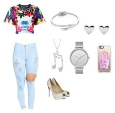 """Wattpad outfit 8"" by spotlightlove on Polyvore featuring Dsquared2, Christian Louboutin, Casetify, Rebecca Minkoff, Allurez and Skagen"