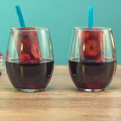 Red Wine Cocktails, Red Sangria, Cocktail Recipes, Drinks, Tipsy Bartender, Popsicle Molds, Pomegranate Juice, Popsicles, Blueberry