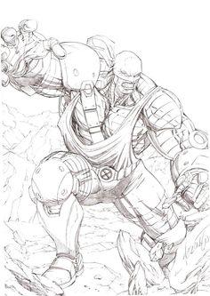 #Colossus #Fan #Art. (AOA Colossus) By: 0boywonder0. (THE * 5 * STÅR * ÅWARD * OF: * AW YEAH, IT'S MAJOR ÅWESOMENESS!!!™)
