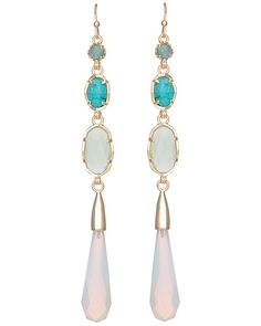 Cassidy Long Earrings in Blue Marine - Kendra Scott Jewelry