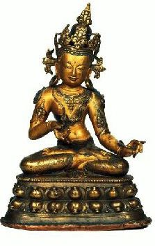 Vajrapani -  13th century, Tibet, gilt copper alloy, at Tsug Lakhang, published by Ulrich Von Schroeder