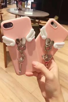 Cute Pink Angle Wings Girls Iphone 6, Iphone 6 Plus, Iphone 7 & Iphone 7 Plus Protective Case For Teen, Good Gift Ideas.