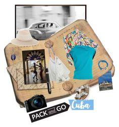 """""""Pack and Go :CUBA!"""" by gagenna ❤ liked on Polyvore featuring Pottery Barn, Jeremy Scott, Roland Mouret, 6 Shore Road, BCBGMAXAZRIA, Fountain, MIANSAI, Topshop, Sony and Aurélie Bidermann"""