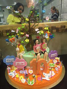 Triplets birthday cake
