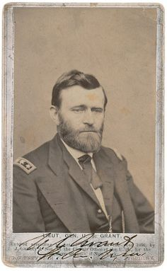 Ulysses S Grant carte-de-visite: US Civil War photographs and documents at RR Auction Ulysses S Grant, History Page, Women In History, Ancient History, Family History, Native American History, British History, Marine Corps Humor, American Presidents