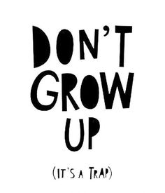 Mini Learners don't grow up, it's a trap poster A3