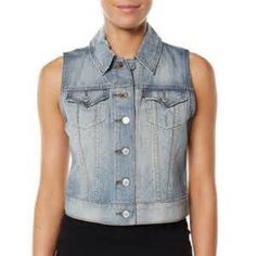Levi Strauss Trucker Vest Light wash distressed denim vest from Levi Strauss. Worn once so it's in mint condition! Super cute and great for layering! Levi's Jackets & Coats Vests