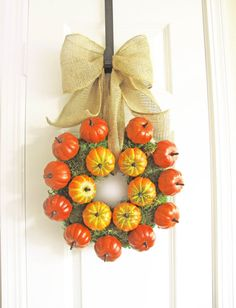 Fall Wreath  Pumpkin Wreath  Fall Decor  Pumpkin by WoodAndBurlap, $75.00