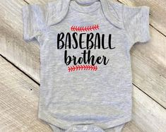 9e2ed2405 Baseball Brother Onesie, Little Brother Baseball Onesie, Family Matching  Baseball Shirts, Baseball Shirts