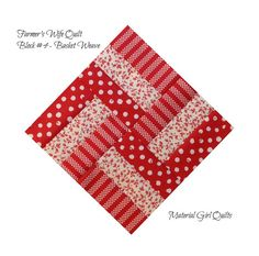 Farmer's Wife Quilt, Block 4: Basket Weave, seen at materialgirlquilts blog, 12-Dec 2014