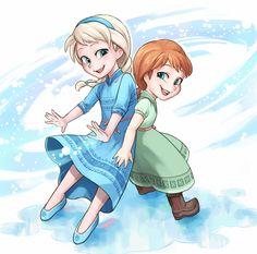 Disney Pixar, Film Disney, Disney Fan Art, Disney And Dreamworks, Disney Movies, Princesa Disney Frozen, Disney Frozen Elsa, Disney Magic, Frozen Sisters
