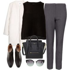 office chic by sarahs-clothes on Polyvore featuring MANGO and Topshop