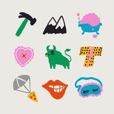 Taurus Emoji Art Print by Aley Hanson - X-Small Taurus Symbols, Kids Graphics, Doodle Tattoo, Weird Creatures, Wall Collage, Art Inspo, Emoji, Illustrators, Graphic Art