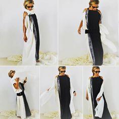 "0 To se mi líbí, 1 komentářů – @creativefashionlive na Instagramu: ""Black White dress variable fashion cotton silk comfortable #blackandwhite #silk #dress #variable…"""