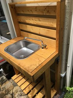 Outdoor Garden Sink, Utility Sink, Backyard Landscaping, Basin, Diy And Crafts, Woodworking, Rustic, House, Home Decor