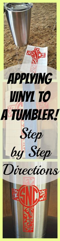 Easy to follow directions on applying a vinyl decal to a tumbler.  Got to do this!