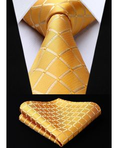 Golden Crosshatch Silk Men's Tie and Pocket Square Set Blue Polka Dots, Blue Stripes, Cristiano Ronaldo Style, Mens Suit Accessories, Men's Business Outfits, Tie And Pocket Square, Tie Set, Mens Fashion Suits, Silk Ties