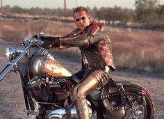 gotta love (pre-plastic) Mickey Rourke - cute badass on a bike