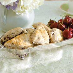 Tea Infused Cherry Scones