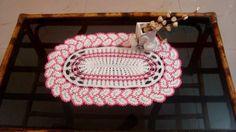 Crochet Doily Crochet oval doily Crochet lace by MyRoseCrochet