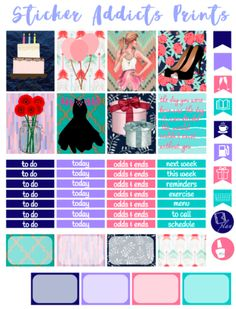 Free Printable Make A Wish Planner Stickers   Sticker Addicts Anonymous