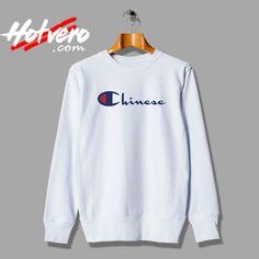 266f2ea77 Cute Chinese Champion Parody Sweatshirt