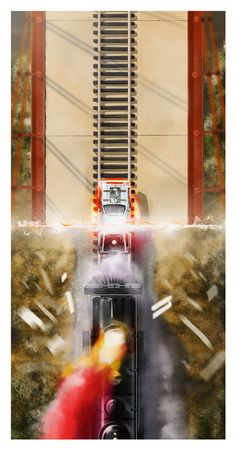 """Back To The Future, Part III poster:Andy Fairhurst """"88MPH - Part 3"""" 