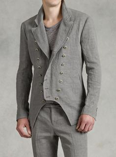 Multi Button Front Cutaway Jacket