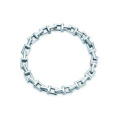 Tiffany T chain bracelet in sterling silver, medium.