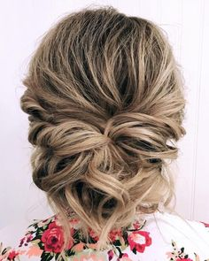Romantic updo for tousled balayage hair low updo, updos, short hair styles, Prom Hair Medium, Up Dos For Medium Hair, Medium Hair Styles, Short Hair Styles, Updo Styles, Updos For Medium Length Hair Tutorial, Medium Length Updo, Bridesmaid Hair Medium Length, Prom Hair Updo