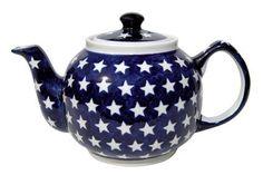 Polish Pottery Stars Teapot. #Teapot #Collectible #Decor #Gift #gosstudio .★ We recommend Gift Shop: http://www.zazzle.com/vintagestylestudio ★