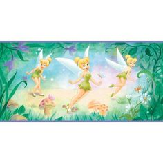 Imperial Disney Home DF059271B Tinkerbell Flower Border Purple 1025Inch Wide ** Find out more about the great product at the image link.