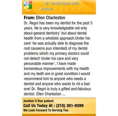 Dr. Regni has been my dentist for the past 3 years. He is very knowledgeable not only...