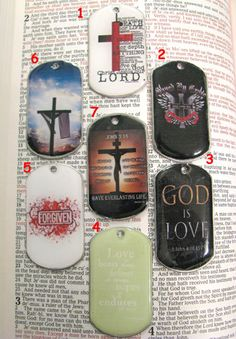 CHRISTIAN SCRIPTURE Dog Tag Necklace Charm or Key by ZivaKreations, $10.00