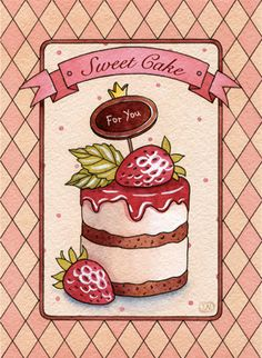 sweet desserts by Natalia Tyulkina, via Behance