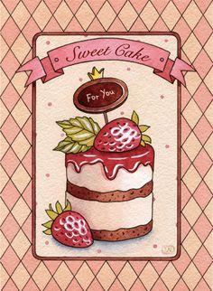 sweet desserts by Natalia Tyulkina, via Behance