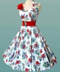 Resultado de imagem para vestidos anos 50