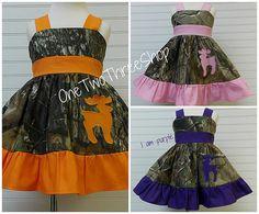 Custom Boutique Clothing Camo Deer  Sassy Girl Dress by amacim, $45.00