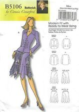 """Butterick 5106 Misses' Blouse and Skirt 3 to 16 or Bust 34"""" to 43"""""""