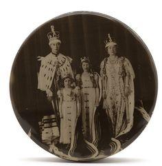 Royal Family Coronation portrait of King George VI, Queen Elizabeth, Princesses Elizabeth and Margaret, 1937