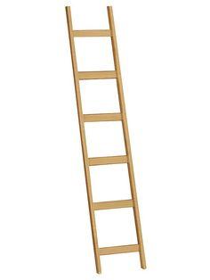 Massive Fichte, braun bzw. honigfarben gebeizt oder creme lackiert. Selbstmontage. 4 Stangen zum Befestigen. Leiter mit Metall-Einhängung. Gesamt-H/B ca. 188/36 cm....