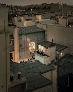 "archatlas: "" Rooftop Photos of Paris at Night ""Over Paris"" is a gorgeous ongoing photo project by photographer Alain Cornu, who brings his large format field camera onto rooftops around the. Paris At Night, Night City, Paris Rooftops, Belle Villa, Paris Ville, City Lights, Wonders Of The World, Beautiful Places, Scenery"