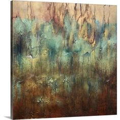 "24 in. x 24 in. """"Earth in Sky"""" by May Art Canvas Wall Art, Multi-Color"