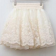 skirt new 2014 saia korean full lace embroidery tulle skirt Mini skirts fashion women lace skirts basic SK2024(China (Mainland))