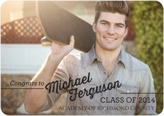 Congrats to You - #Graduation Announcements - simplyput by Ashley Woodman. #classof2014