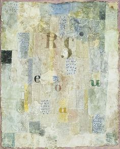 """Paul Klee. (German, born Switzerland. 1879-1940). Vocal Fabric of the Singer Rosa Silber. 1922. Watercolor and plaster on muslin, mounted on cardboard, 24 1/2 x 20 1/2"""" (62.3 x 52.1 cm). Gift of Mr. and Mrs. Stanley Resor."""