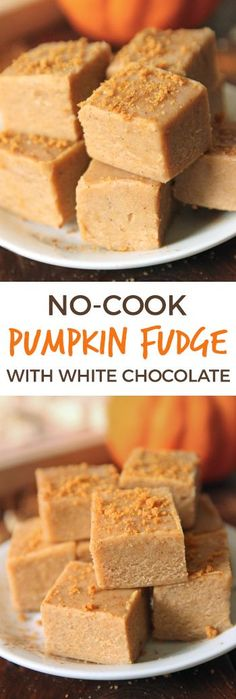 This delicious white chocolate pumpkin fudge only takes a few minutes to make and is made in the microwave!
