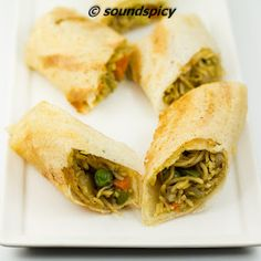 Spring Roll Dosa / Spring Dosa / Noodles Dosa, Indo-chinese dish with a fusion of Noodles and Dosa, made from leftover spicy curry noodles