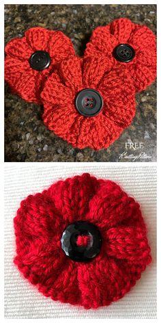 Free Knitted Flower Patterns, Knitted Poppy Free Pattern, Baby Cardigan Knitting Pattern Free, Beginner Knitting Patterns, Animal Knitting Patterns, Free Knitting, Free Christmas Knitting Patterns, Knitting Patterns For Babies, Knitted Toys Patterns